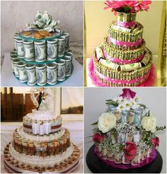 Handmade Gifts Wedding cakes from money – idea for money gifts Preschool Crafts, Fun Crafts, Diy And Crafts, Don D'argent, Lottery Ticket Gift, Money Creation, Wedding Gifts, Wedding Cakes, Creative Money Gifts