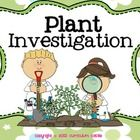 Plant Investigation Unit: Life Cycle, Parts of a Plant, and Needs!  Perfect for K-2! $