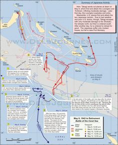 The Battle of the Coral Sea (six great maps) - World War II Social Place