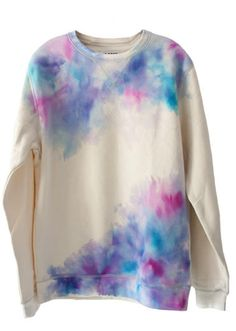 15 diy fashion projects watercolor sweatshirt