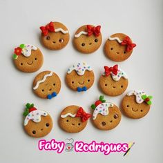 Clay Art Projects, Polymer Clay Projects, Polymer Clay Creations, Clay Crafts, Polymer Clay Animals, Cute Polymer Clay, Polymer Clay Charms, Christmas Decorations To Make, Christmas Crafts