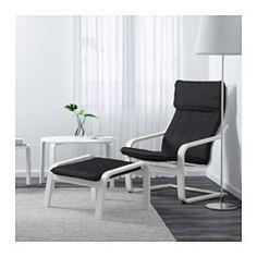 IKEA - ПОЭНГ, Кресло, Стенли черный/белый, Стенли черный/белый, , Легко содержать в чистоте – съемный чехол можно отдать в химчистку.Для максимального комфорта кресло можно дополнить табуретом для ног ПОЭНГ.Высокая спинка обеспечивает хорошую опору для шеи.Бесплатно 10 лет гарантии. Подробнее об условиях гарантии – в гарантийной брошюре.Каркас из многослойного клееного березового шпона комфортно пружинит.