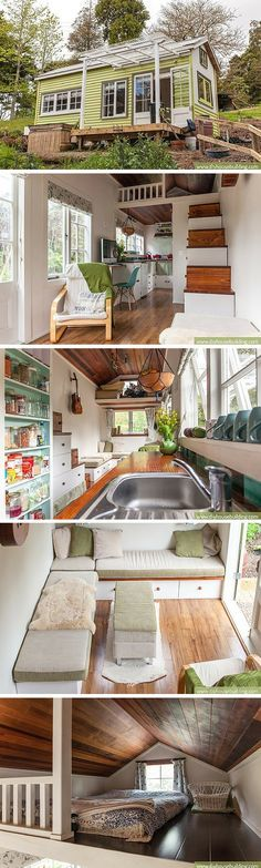 Lucy the Tiny House: a 186 sq ft home in New Zealand, occupied by a couple and their baby girl.