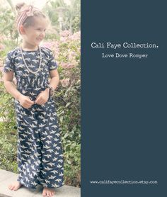 Love Dove Romper, PDF pattern and tutorial, sizes 2t-5t, childrens SEWING PATTERN. $6.99, via Etsy.