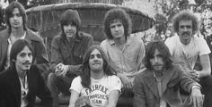 Ned Doheny, Randy Meisner, Don Henley, and Bernie Leadon in the back row. Front row is Jackson Browne, Glenn Frey, and JD Souther