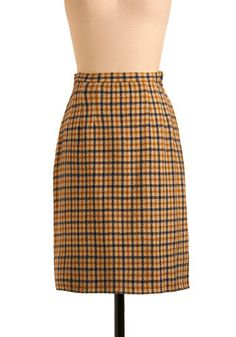 Vintage Gourmet Glamour Skirt - The plaid skirt is a must when completing Anna's look. This plaid skirt is classic, quirky, and smart. Anna would have paired this with the Lemon Short Bread Coat! #styleicon #modcloth