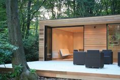 In.It.Studios' Prefab Garden House is a Modern Small Space Tucked Away In The Forest | Inhabitat - Sustainable Design Innovation, Eco Architecture, Green Building