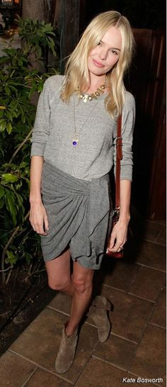Kate Bosworth, grey outfit, celeb