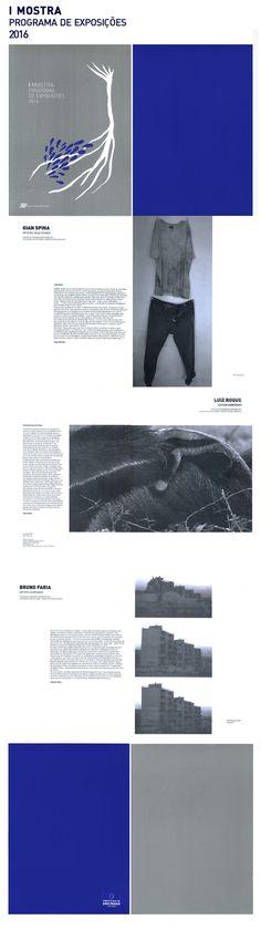 Publicação impressa da I Mostra do Programa de Exposições 2016.