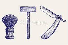 Straight Razor And Shaving Brush Photo Shaving Brush, Straight Razor, Blow Dry, Street Signs