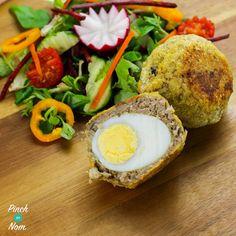Vegetarian Scotch Eggs - Pinch Of Nom Vegetarian Recipes, Pescatarian Recipes, Egg Recipes, Cooking Recipes, Recipies, Free Recipes, Slimming World Recipes, Meal Planner, Healthy Vegetarian Recipes