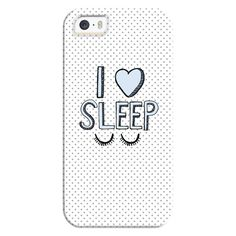 iPhone 6 Plus/6/5/5s/5c Bezel Case - I Love Sleep (€31) ❤ liked on Polyvore featuring accessories, tech accessories, phone cases, phone, cases, electronics, iphone case, iphone cover case and apple iphone cases