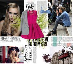 """pink dress! (FASHION OR DOLLS)"" by kamenceva-m ❤ liked on Polyvore"