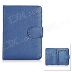 "Protective PU Leather Flip Open Case for 6"" Amazon Kindle Paperwhite 1/2 - Blue Price: $7.93"