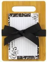 Bamboo cutting board recipe cards!
