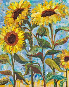 """Sunny"" - collage by Elizabeth St. Hilaire Nelson"