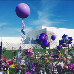 Beautiful Prince tribute outside of Paisley Park, Chanhassen, Minnesota.