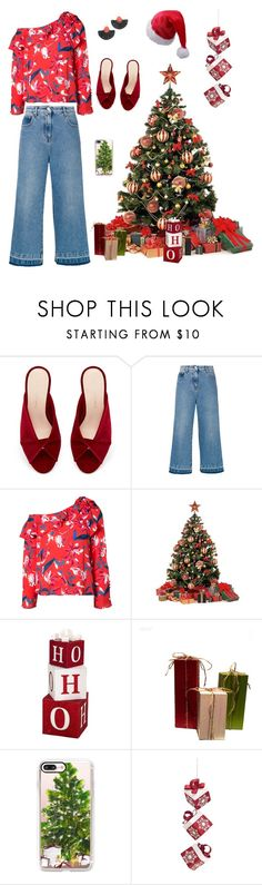"""Christmas Day outfit !"" by manhattangirlnyc ❤ liked on Polyvore featuring MSGM, Tanya Taylor, Alpine and Casetify"