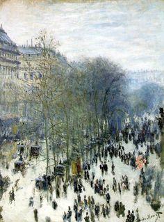 """""""Boulevard des Capucines"""", Claude Monet, 1873-74  -  Nelson-Atkins Museum of Art"""