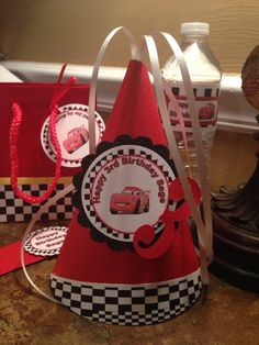 New....Disney PERSONALIZE Cars Birthday Party HAT.... by YourPartyStore on Etsy