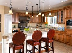 Custom Kitchen, traditional with accented color island, designed by Cord's Cabinetry