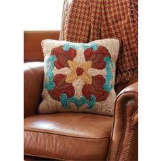 "Hacienda Hooked Pillow - 18"""