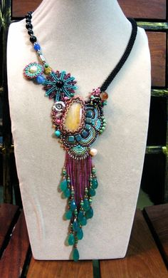 Peacock Princess Beautiful Necklace by ARTSTUDIO51 on Etsy