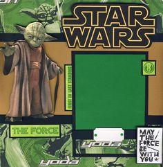 Star Wars Yoda Boy 2 Premade Scrapbook Pages Scrapbooking 4 Album by Cherry   eBay