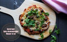 Pizza med spicy oksekødskugler ♥ jegelskermad.dk