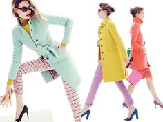 J.Crew 2012-2013 Winter Womens Coats and Outerwear: Designer Denim Jeans Fashion: Season Collections, Runways, Lookbooks, Linesheets & Ad Ca...