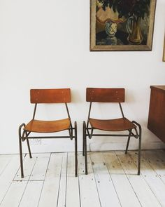School Chairs, Old School, Nostalgia, Dining Chairs, Mid Century, Stylish, Furniture, Home Decor, Homemade Home Decor