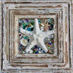 Rustic Beach Bathroom Decor Wall Hanging Starfish Wall image 1 Starfish Art, Seashell Art, Beach Kitchens, Beach Bathrooms, Coastal Wall Art, Coastal Decor, Blue Wall Decor, Decor Ideas, Gift Ideas