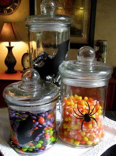Halloween Vinyl Candy Jars