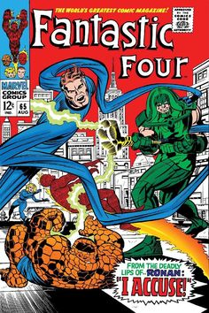 Browse the Marvel Comics issue Fantastic Four Learn where to read it, and check out the comic's cover art, variants, writers, & more! Comic Book Covers, Comic Books Art, Comic Art, Book Art, Ronan The Accuser, Fantastic Four Comics, We Are Family, Classic Comics, Jack Kirby