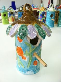 Children's Art Classes, new and different using pottery. Also can be a project for a bird feeder.