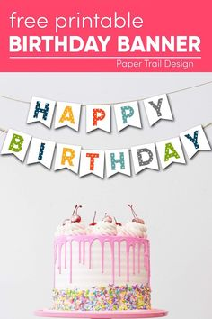 Print this happy birthday sign and hang it for your next birthday party. Perfect for a quarantine birthday. #papertraildesign #girlbirthday #boybirthday #gendernuetralbirthday #birthdayparty Diy Birthday Sign, Happy Birthday Decor, Printable Birthday Banner, Birthday Party At Home, Diy Birthday Decorations, Happy Birthday Banners, Free Birthday, Small Birthday Parties, Polka Dot Birthday