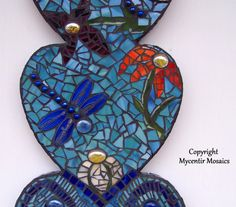 Nature Mosaic Wall Hanging by mycentirmosaics on Etsy, $100.00