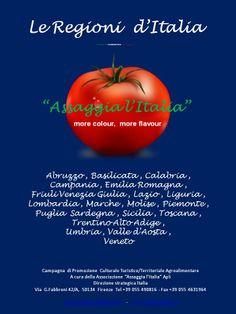 """Le Regioni d'Italia, molto diverse l'una dall'altra, per territorio, storia, tradizioni e cultura, hanno rispettivamente così tante e variegate caratteristiche da poter soddisfare le richieste degli utenti più esigenti. """"AmbaStore"""" Ambascite del Gusto e dello Stile Italano nel mondo """"Visitate l'Italia """"  -  """"Navštivte Itálii""""  -  """"Visit Italy"""" """"Assaggia l'Italia"""" Italian Information Center and More for everything you need to know and taste of Italy Cultura Arte Spettacolo Turismo…"""
