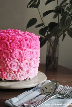 Pink Ombre Cake- almost too beautiful to eat, almost....