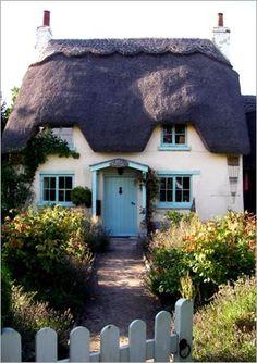 ஜ Thatched cottage, Snowshill, Cotswolds. Snowshill is a small Cotswolds village in Gloucestershire, England ஜ Fairytale Cottage, Storybook Cottage, Little Cottages, Cabins And Cottages, Cute Cottage, Cottage Style, Cottage Living, Cottage Homes, English Country Cottages