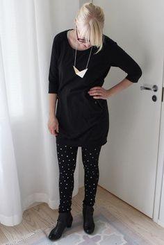 Black and white dot jeans / Kotisaari