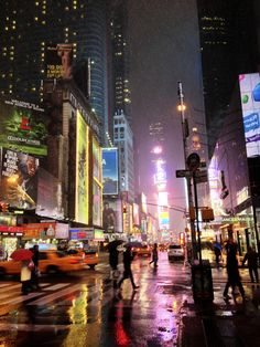 New York Street by Patrick Carney Night Aesthetic, City Aesthetic, New York Street, New York City, New York Rain, Photo New York, New York Wallpaper, City Rain, New York Night