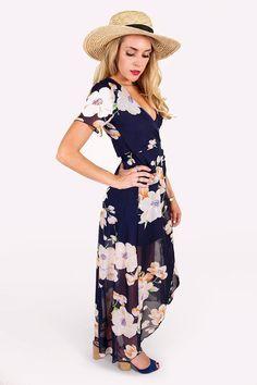 Gracie Wrap Long Dress Outfit
