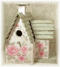 Image detail for -shabby sweet and oh so chic this charming cottage birdhouse is ...