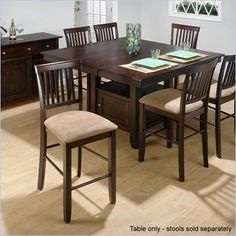 Jofran Counter Height Dining Table with Butterfly Leaf in Baker's Cherry - 373-55T-55B