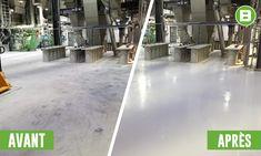 Un beau petit projet de revêtement en époxy que nous avons réalisé la semaine dernière. 💯  Peu importe la condition du plancher de votre usine ou de votre entrepôt, nos experts auront une solution à vous proposer.  ✅ Époxy de couleur 100% solide ✅ Époxy clair 100% solide ✅ Polyuréa-Aspartique 100% solide avec flocons de vinyles ✅ Lignes de sécurité ✅ Antidérapants  Écrivez-nous pour en discuter! 😁 Beton Surface, Solution, Outdoor Decor, Light Project, Vinyl Records, Flakes, Floor, Business, Industrial