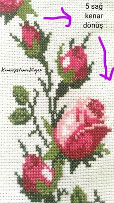 Embroidered rag doll, Fleece toy for children Easter Bunny with embroidery flowers Cross Stitch Rose, Cross Stitch Borders, Cross Stitch Baby, Cross Stitch Flowers, Cross Stitch Designs, Cross Stitch Patterns, Silk Ribbon Embroidery, Cross Stitch Embroidery, Hand Embroidery
