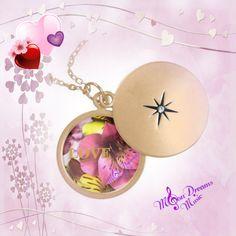 Love and Flowers Gold Locket by #MoonDreamsMusic #GoldLocket #LoveAndFlowers #ValentinesDay