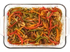 Easy Oven Fajitas - Step by Step Photos - Budget Bytes Oven Roasted Fajita Chicken and Vegetables for Easy Oven Fajitas Recipe Fajita Vegetables, Chicken And Vegetables, Veggies, Baked Chicken Fajitas, Steak Fajitas, Beef Fajita Recipe, Fajita Mix, Easy Oven Baked Chicken, Oven Roast