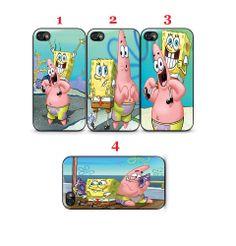 Spongebob And Patrick Cartoon Apple iPhone 4  4S Case Black (1 Pcs)